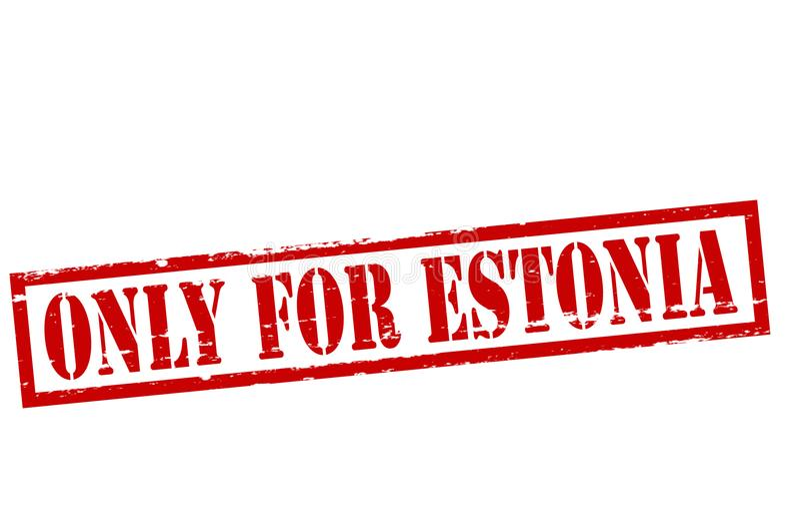 Solamente para Estonia libre illustration