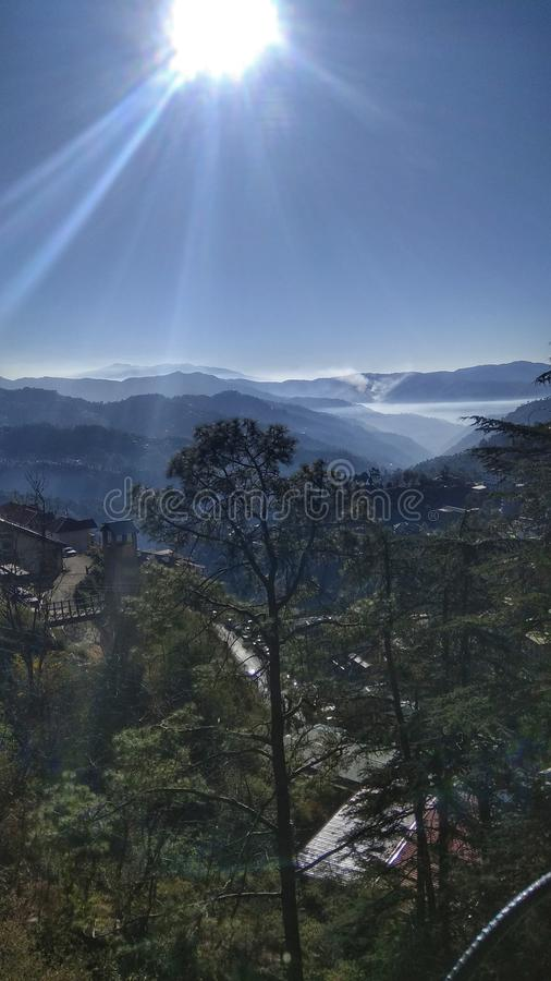 Solan, a small town in the foothills of himalayas stock image