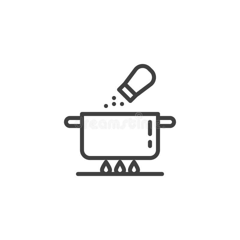 Solankowa zupna niecki linii ikona ilustracji