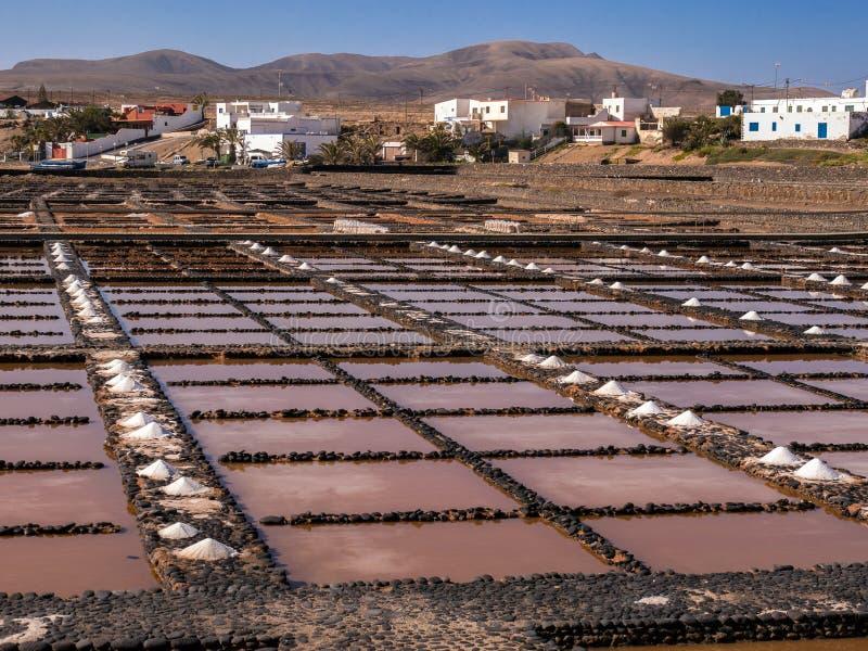 Solankowe niecki w Fuerteventura, wyspy kanaryjska zdjęcie royalty free