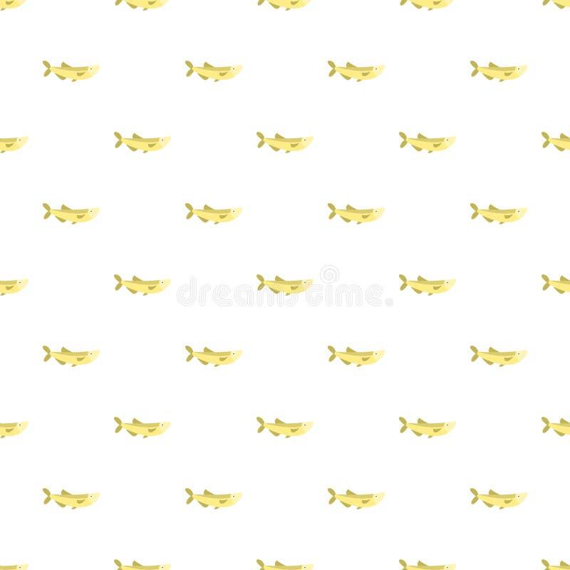 Solankowego piwo ryby wzoru bezszwowy wektor ilustracji