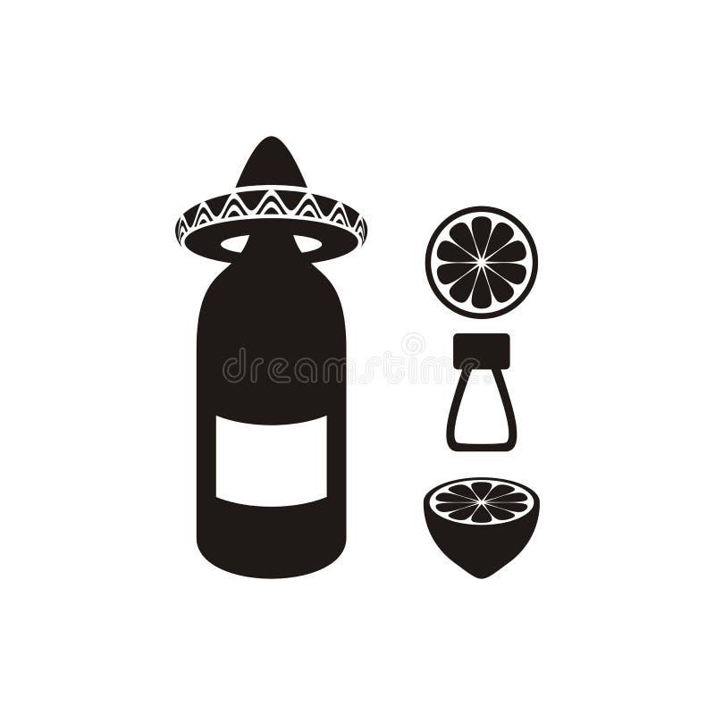 solankowy cytryny tequila ilustracja wektor