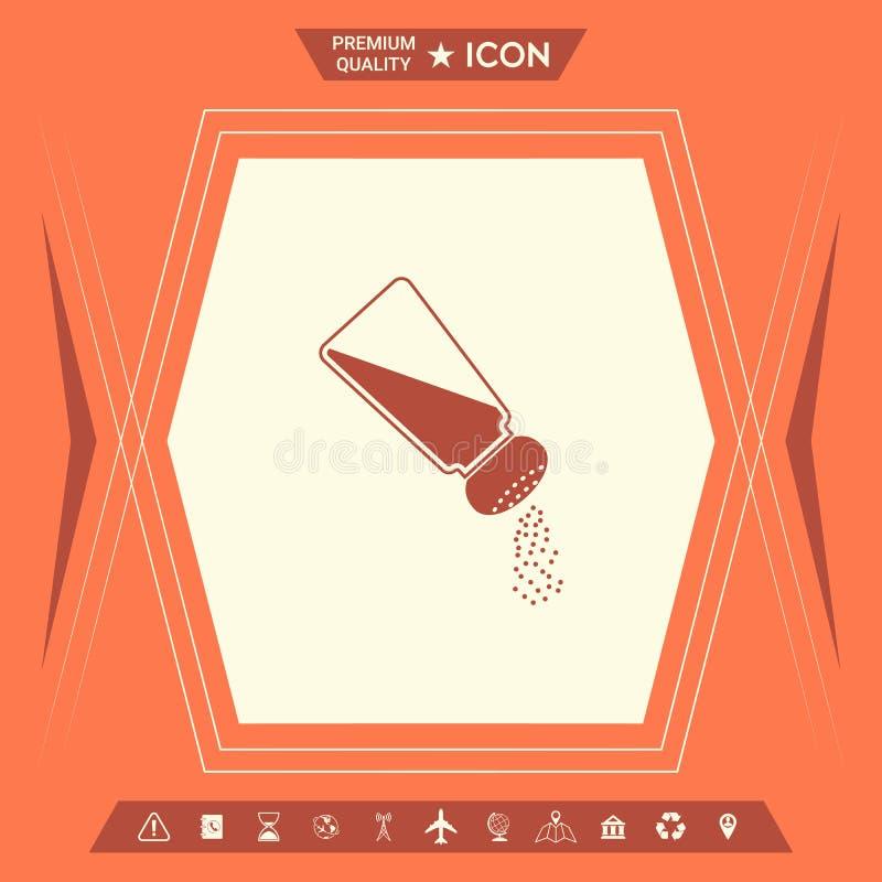 Solankowy lub pieprzowy potrząsacz ilustracja wektor