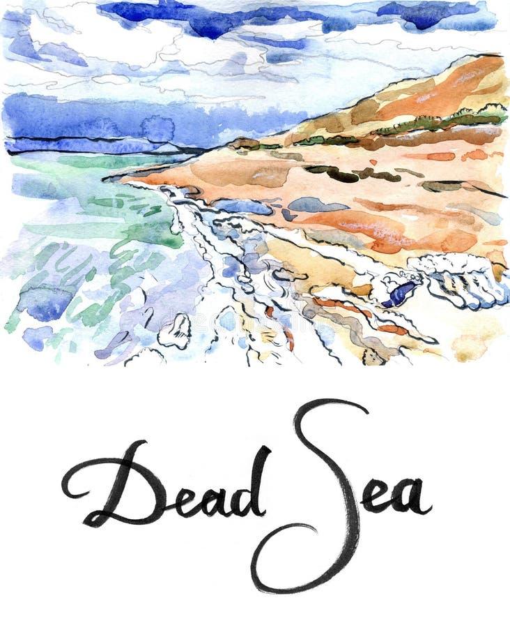 Solankowych formacj Nieżywy morze Izrael royalty ilustracja