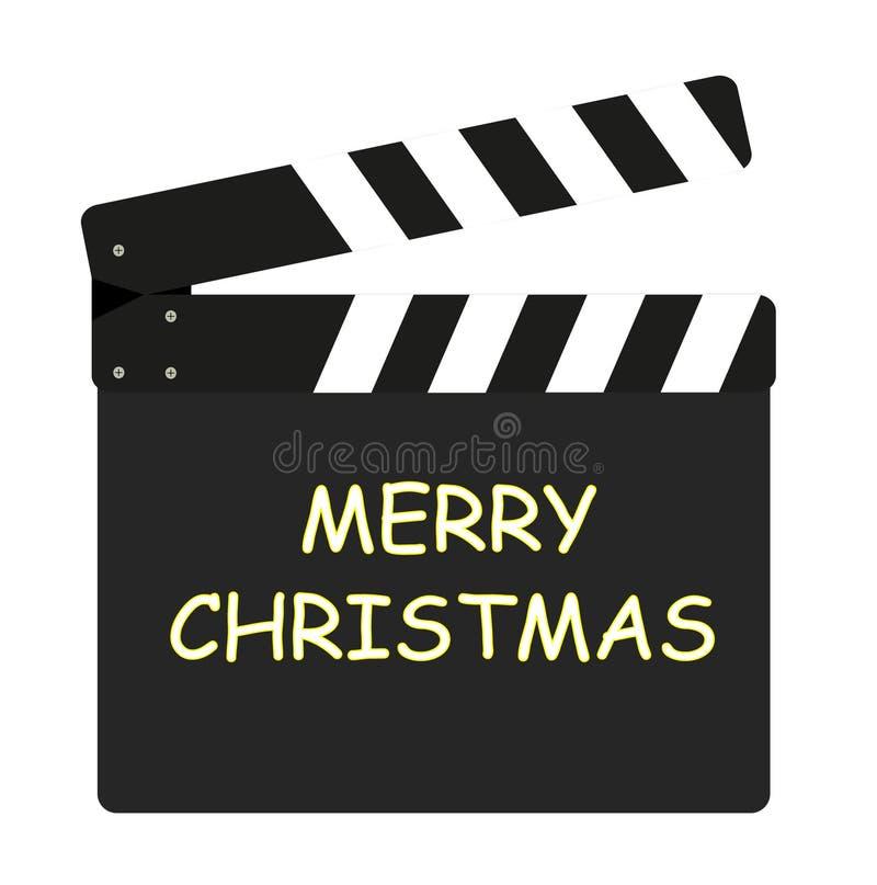 Solapa de la película - Feliz Navidad ilustración del vector