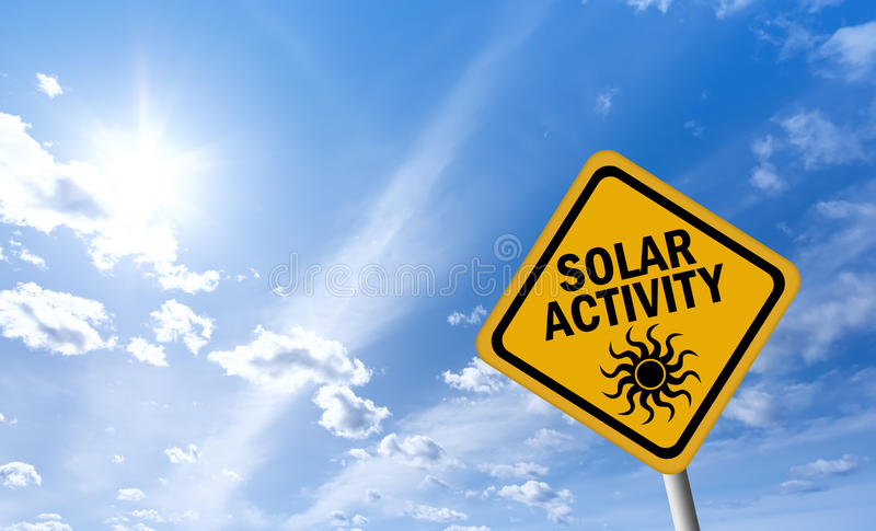 Solar Activity Warning Sign Royalty Free Stock Photography