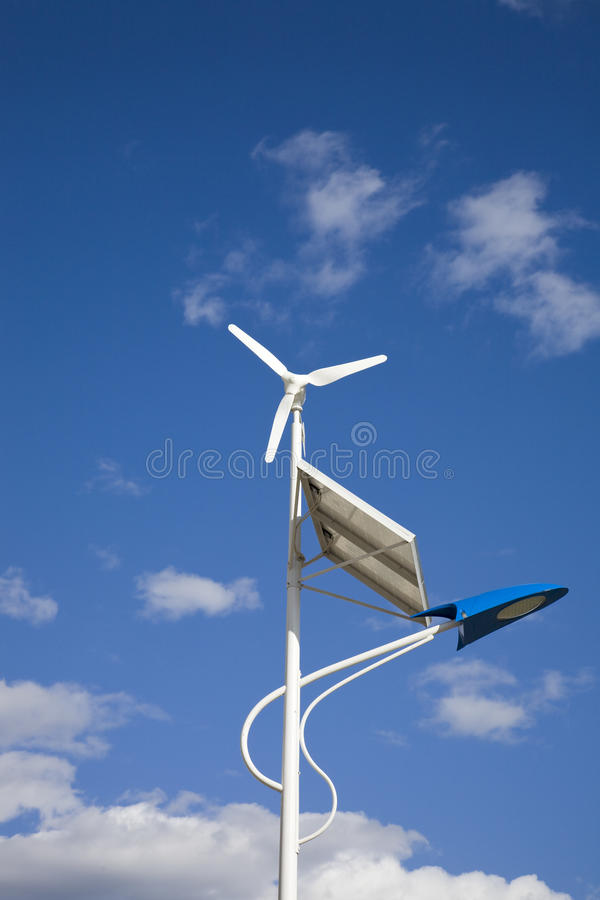 Free Solar And Wind Power Lamp Royalty Free Stock Photos - 12082838