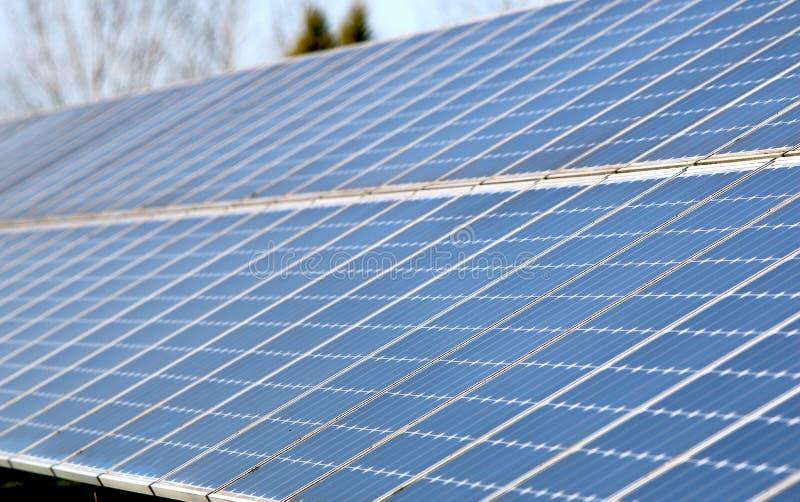 Solar Array in Beaverton, Oregon stock photography