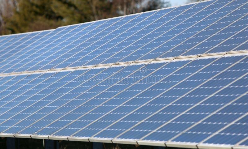 Solar Array in Beaverton, Oregon royalty free stock images