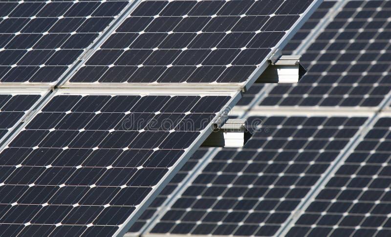 Solar Array in Beaverton, Oregon stock images