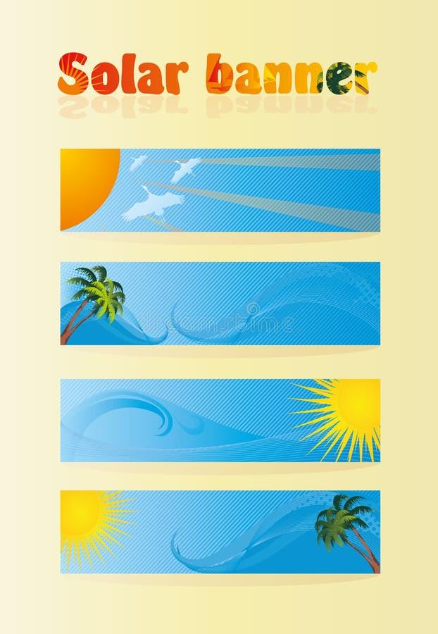 Solar banner royalty free illustration