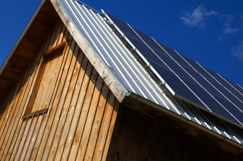 Download Solar Barn Roof stock image. Image of light, building - 8576209