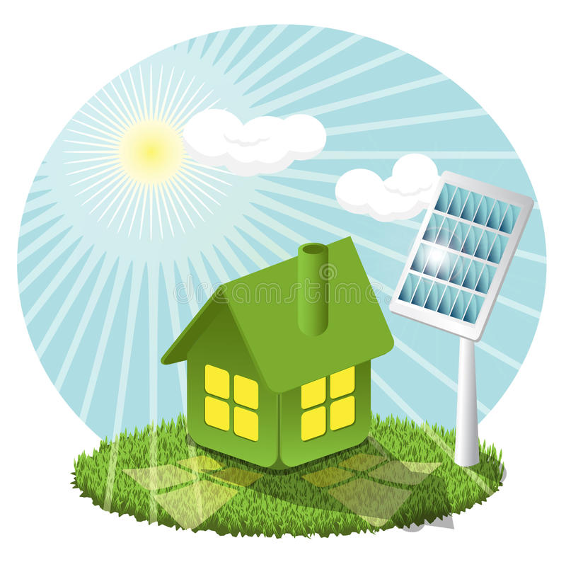 Download Solar battery stock vector. Illustration of house, wired - 14531988