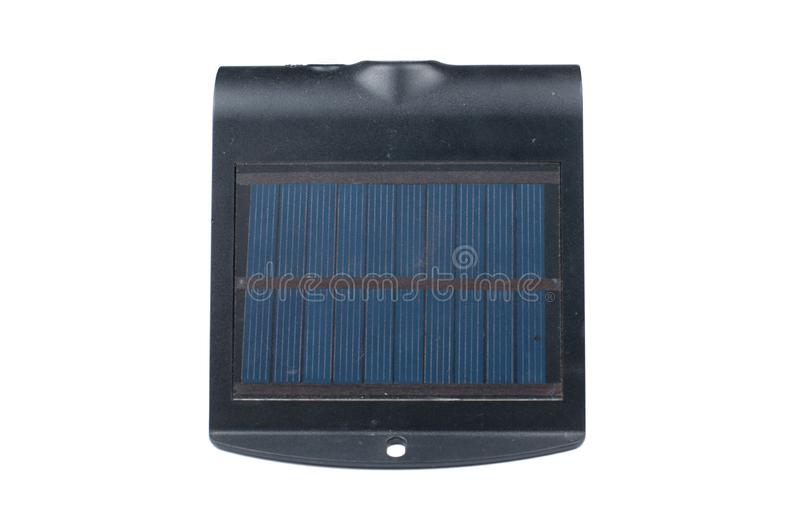 Solar battery isolated on white background.Copy space. Supply, solar-power, eco, energy, environmental, charger, phone, generator, cell, sun, ecology stock photography