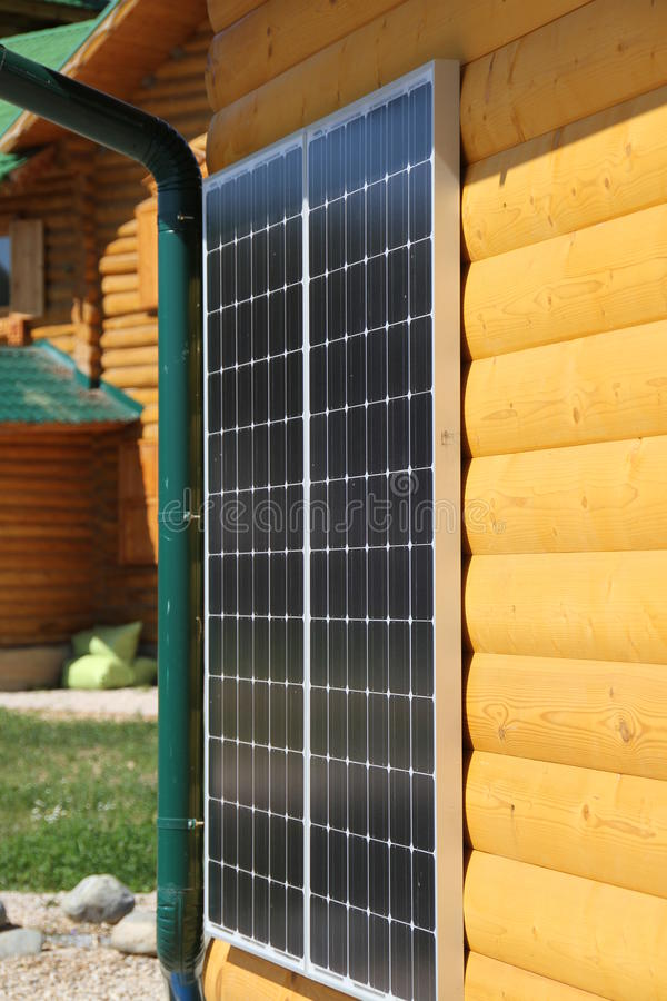 Free Solar Battery On The Wall Stock Photography - 40945022