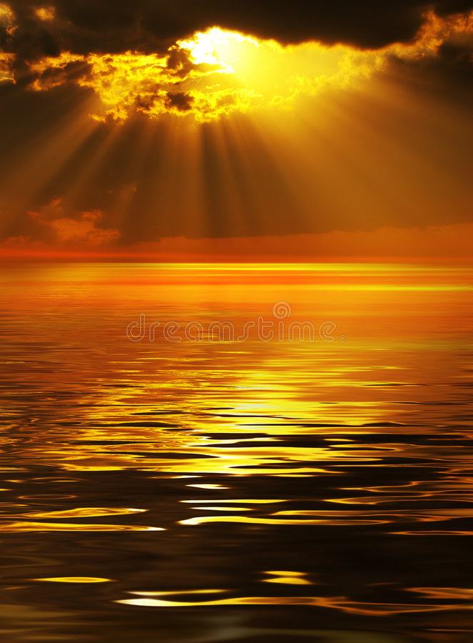 Solar beams royalty free stock images
