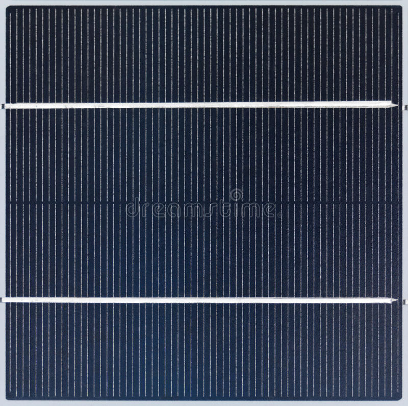 Solar Cell. Polycrystalline solar cell close-up stock images
