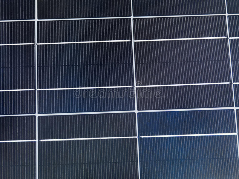 Solar Cell. Polycrystalline solar cell close-up stock photo