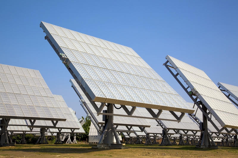 Download Solar Cell Array And Power Sation Stock Photo - Image: 17154164