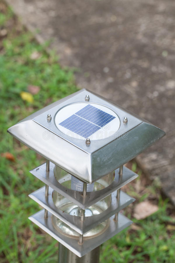 Solar cell garden light royalty free stock photo