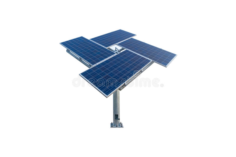 Solar cell. Isolate on white background stock photos
