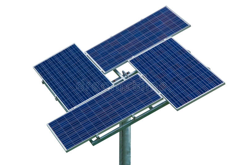Solar cell. Isolate on white background royalty free stock photo