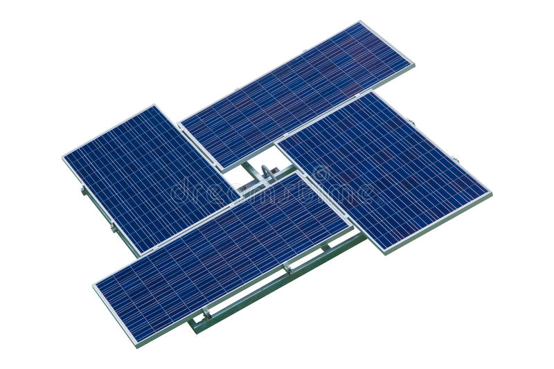 Solar cell. Isolate on white background stock image