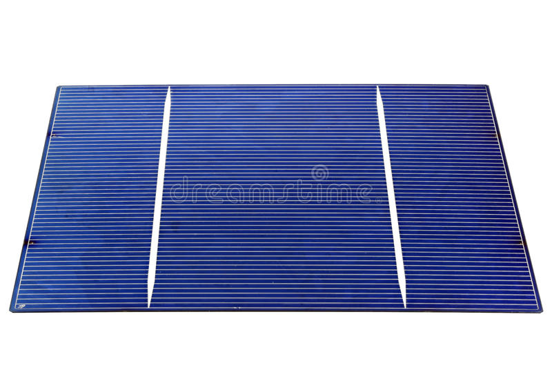 Solar cell. Isolated on white background royalty free stock photo
