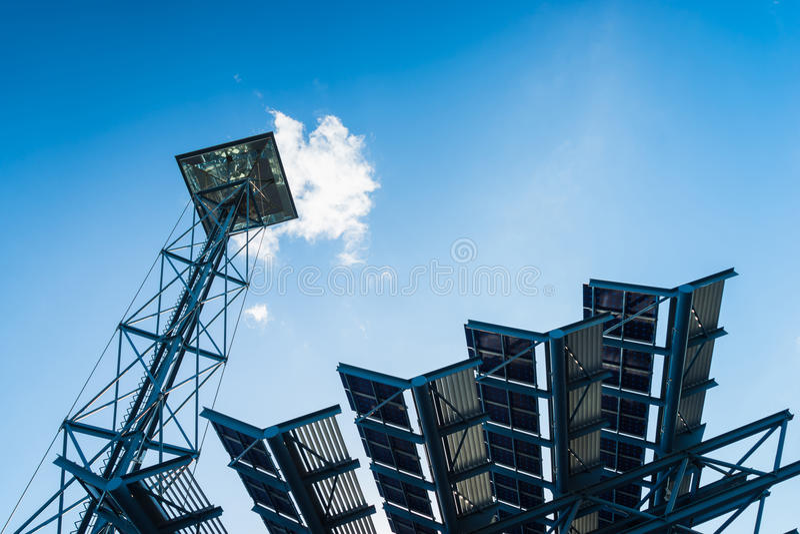 Solar Cell Lantern stock photo