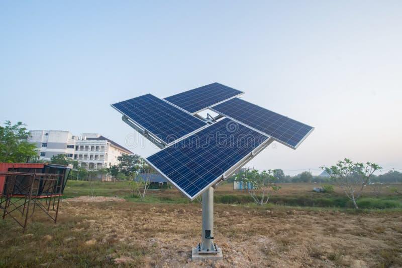 Solar cell. In outdoor lawn stock photos