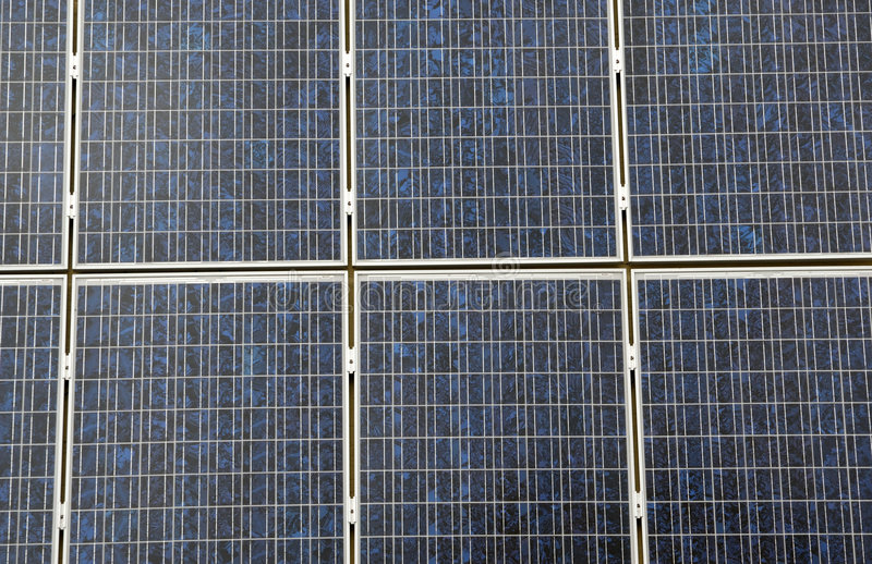 Solar Cell Panel. A close up view of solar cells that make up a larger solar panel used to convert sunlight into electricity royalty free stock photos