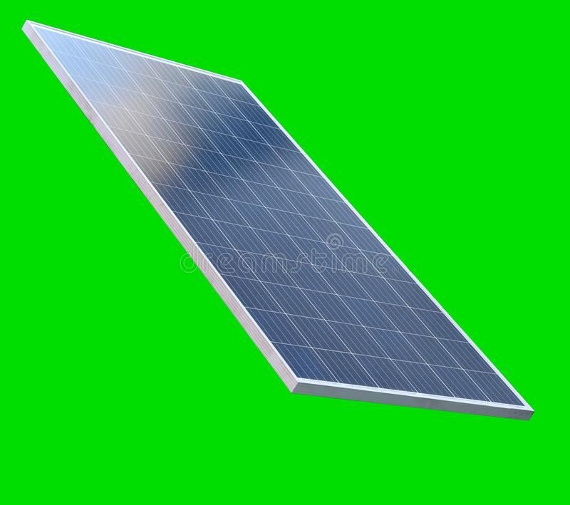 Solar cell panel isolated on green background. Solar cell panel isolated with green background royalty free stock photos