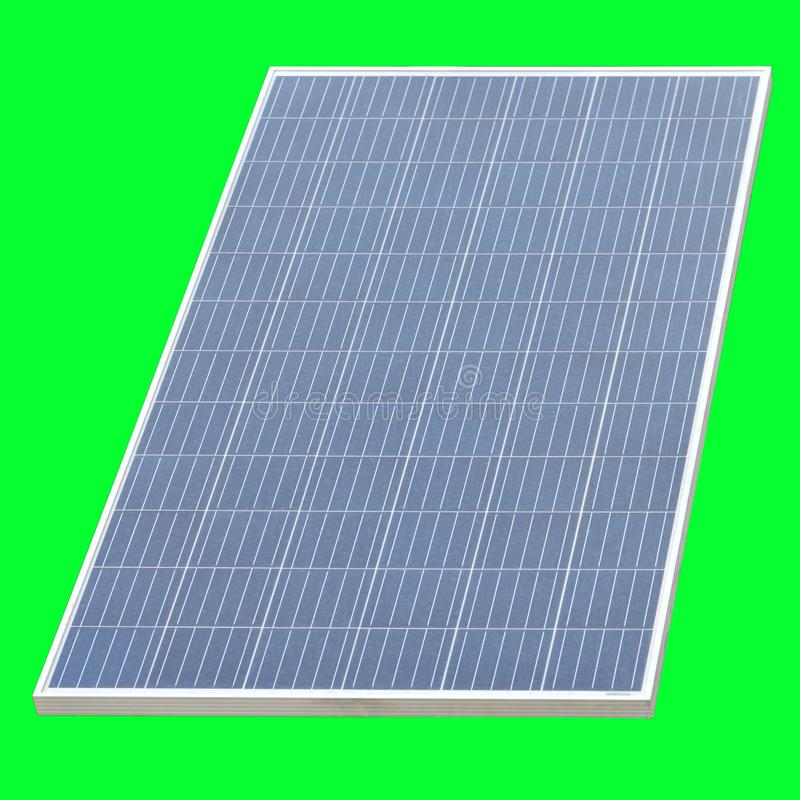 Solar cell panel isolated on green background royalty free stock images