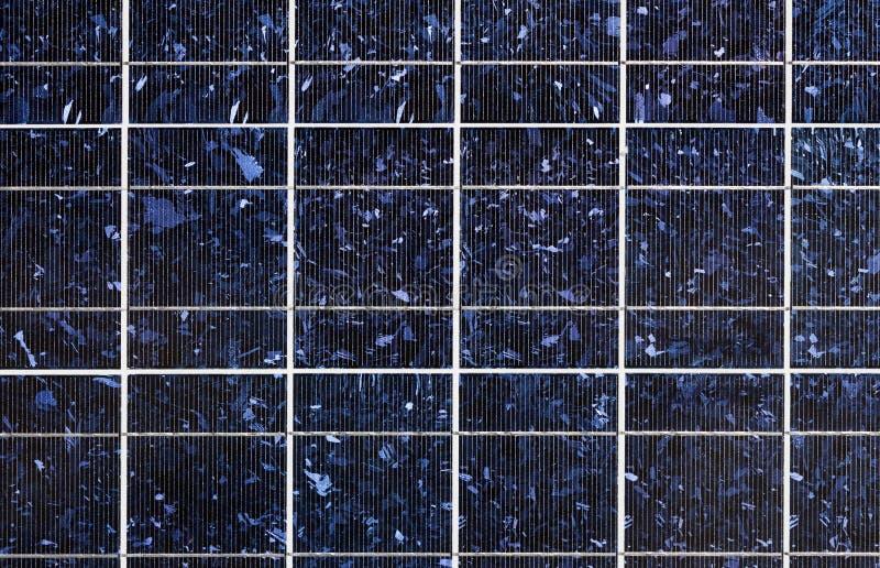 Solar cell. Photovoltaic blue silicon solar cell texture royalty free stock photo