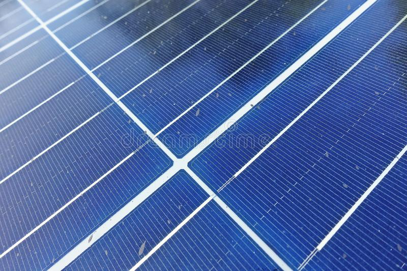Solar cell, a source of energy in remoted  area, green energy. Enviromental friendly for electricity production, modern technology royalty free stock photo