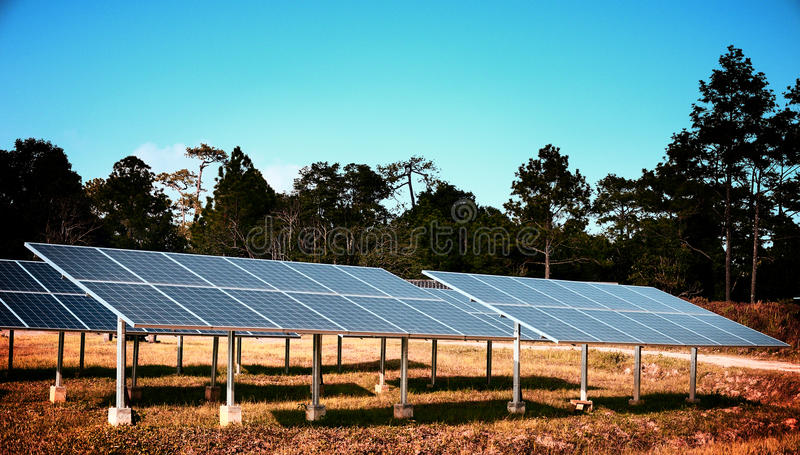 Solar cell in vintage style royalty free stock images