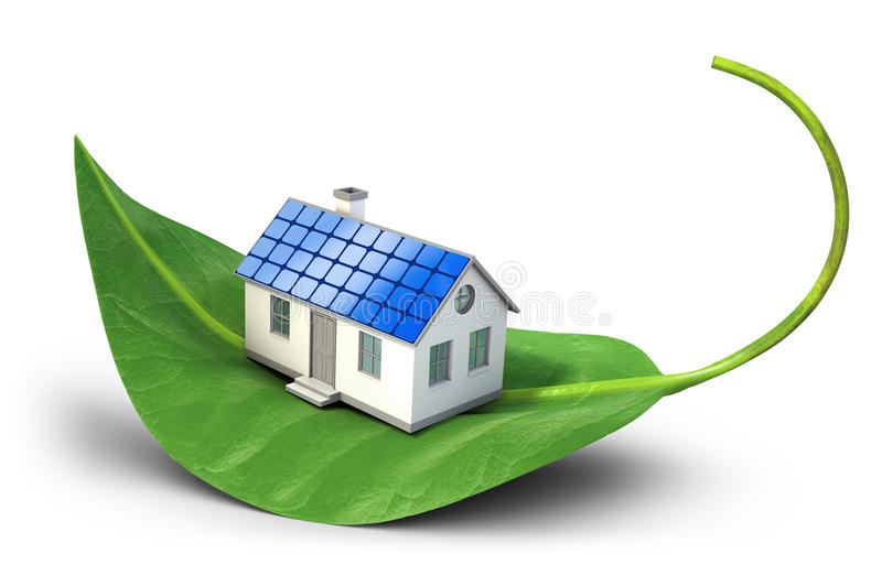 Solar cells house vector illustration