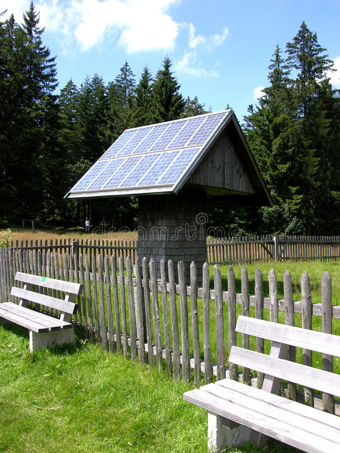 Download Solar collector stock photo. Image of wood, collector - 10852404