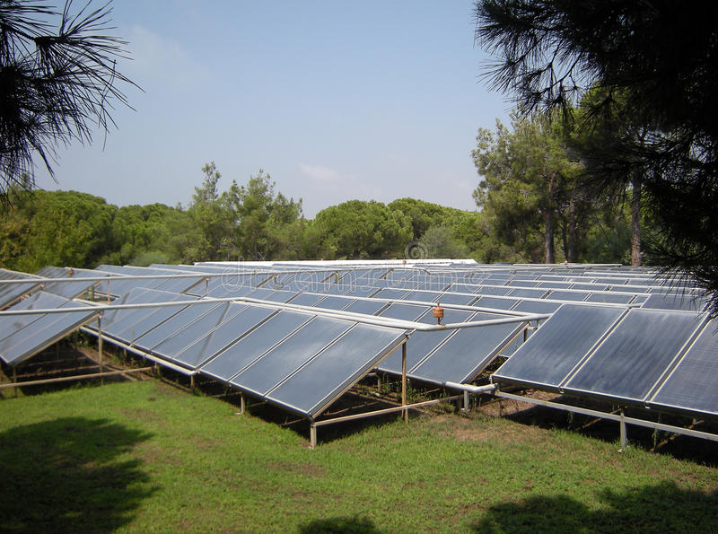 Download Solar collector stock photo. Image of summer, station - 16044982