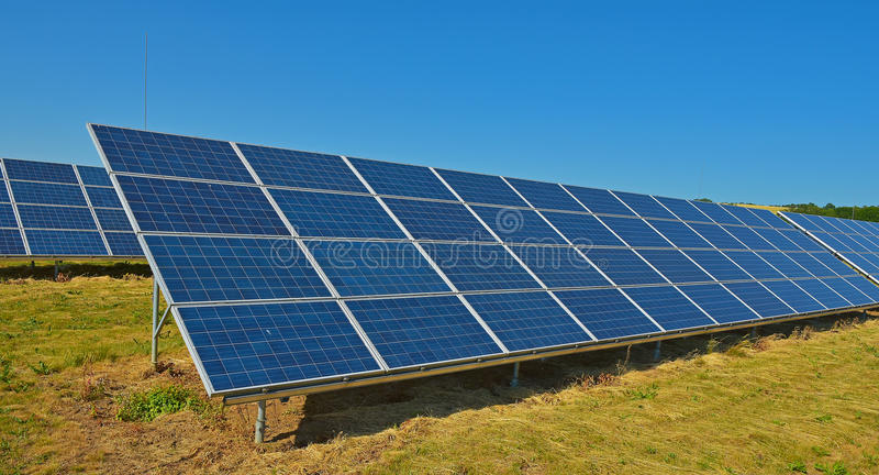 Solar collectors. For electricity generation royalty free stock photos