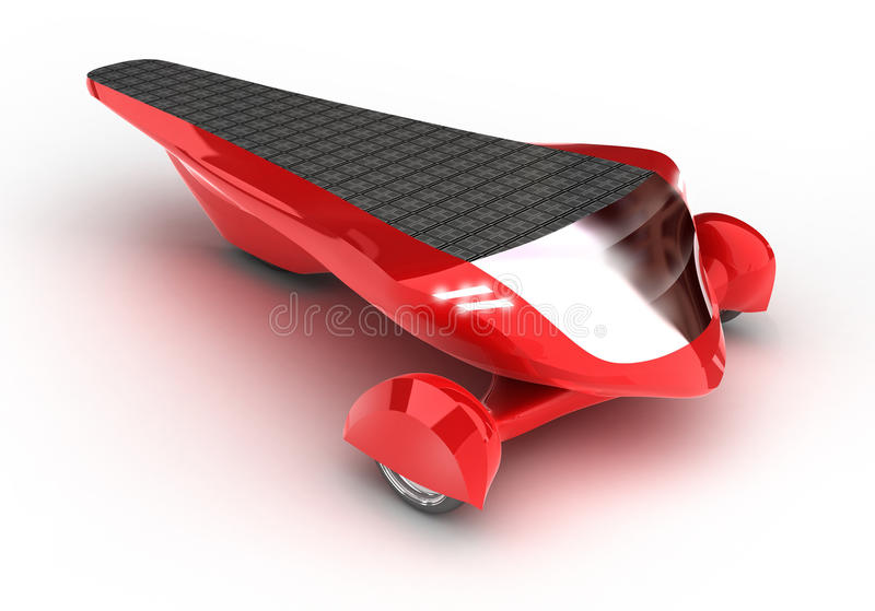 Solar concept car vector illustration
