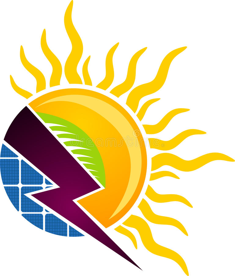 Solar concept logo. Illustration art of a solar concept logo with isolated background vector illustration