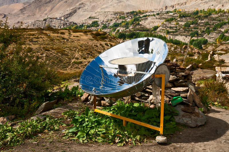 Solar cooker royalty free stock images