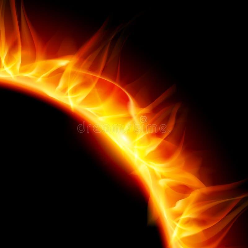 Solar corona. vector illustration