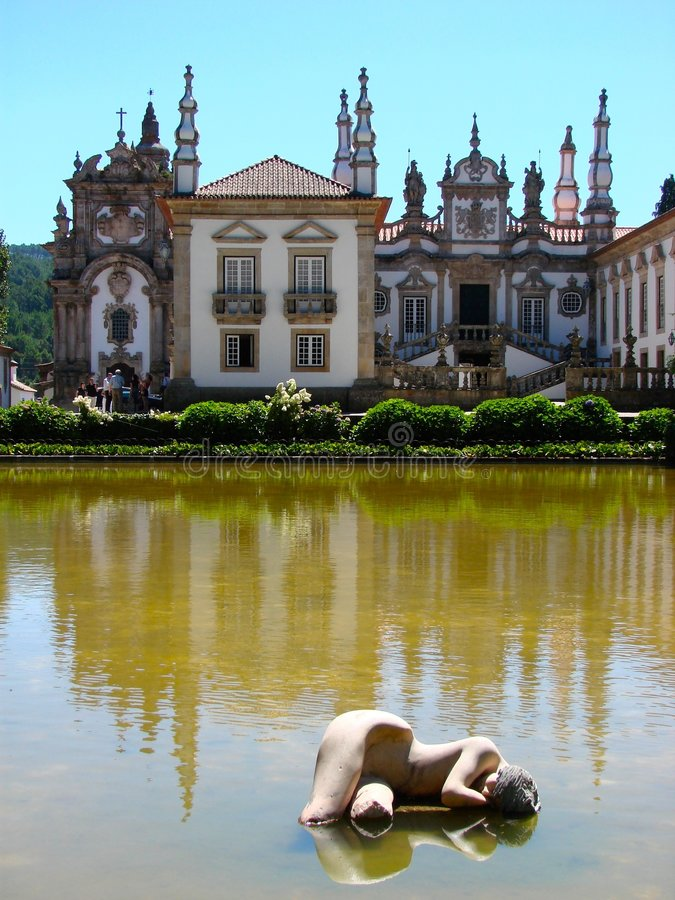 Solar de Mateus, Portugal images libres de droits