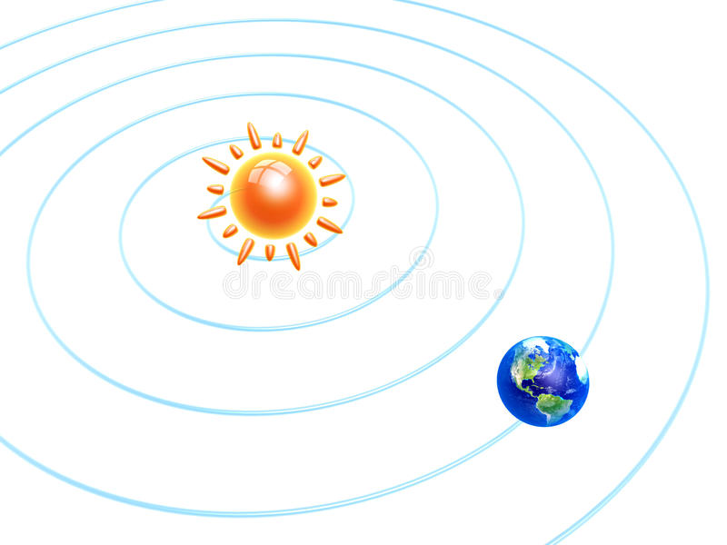 Solar and earth stock illustration