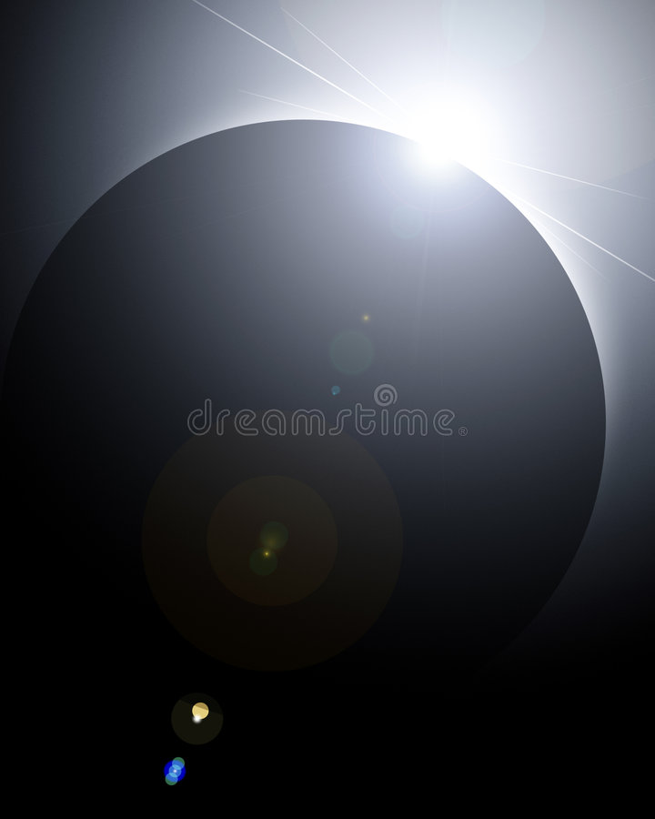 Solar eclipse stock illustration