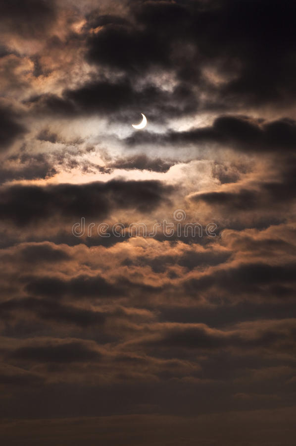 Solar eclipse 3 royalty free stock photos