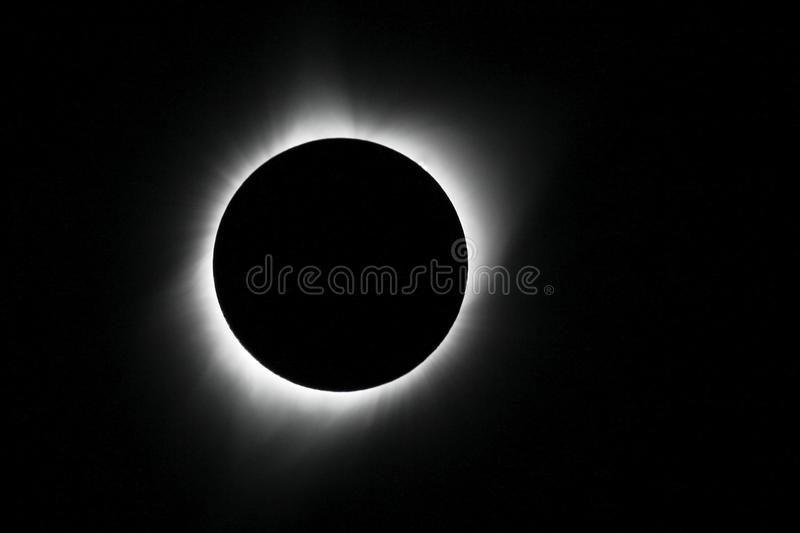 Solar Eclipse of August 21, 2017 stock image
