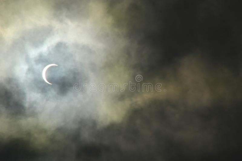 Solar Eclipse On December 26 2019 royalty free stock image